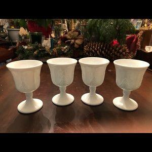 Other - Milk glass goblets/wine glasses.